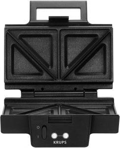 Krups FDK 451 Appareil à croque-monsieur 850 W, plaques 25 x 12 cm (Noir)